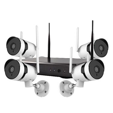 Sistema de câmera de segurança sem fio 3MP, 8CH NVR + 4pcs 3MP HD externo à prova d