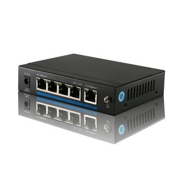 4 port 100 Mbit/s IEEE802.3af POE Switch/Injector macht über Ethernet für IP Kamera VoIP Telefon AP-Geräte 104POE-AF