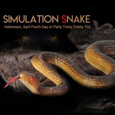 Simulação cobra de borracha preta jardim de cobra falso adereços brinquedo engraçado complicado