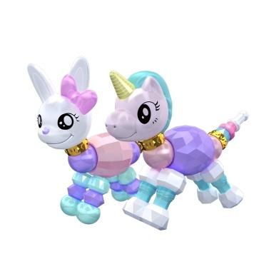 2Pcs Twisted Animal Pets Rabbit Unicorn Collectible Bracelet Set