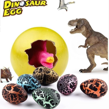 5 Pcs 3cm Fissure Pets Toys Surprise Hatching Add Water Growing Cracks Dinosaur Egg