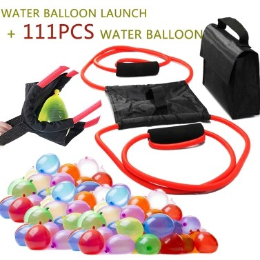 40% OFF Water Balloon Launcher with 111Pcs Water Balloon,limited offer $12.03
