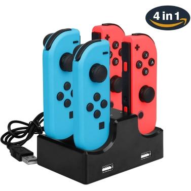 4 en 1 Dock de charge avec 2 ports Hub USB pour Nintendo Switch Joy-Con seulement € 5.16