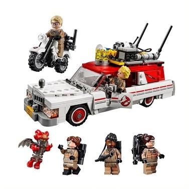 LEPIN 16032 586pcs Movie Series Ghostbusters Ecto-1 & 2 Model Building Blocks Bricks Kit Set - Plastic Bag Package