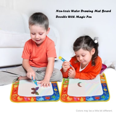 Non-toxic Water Drawing Mat Board Painting and Writing Doodle With Magic Pen for Baby Kids 29 * 30 CM