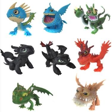 Comment dresser votre dragon 8 pcs Figurines d