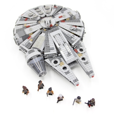 LEPIN 05007 1381pcs Star Wars Millennium Falcon Force Awakens Spaceship