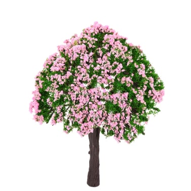 4 Pieces Plastic Model Trees