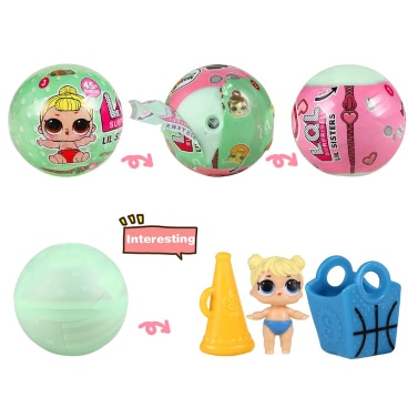 Surprise Magic Funny Removable Doll with Match Accessories Hatching Eggs Toy Kids Educational Toys
