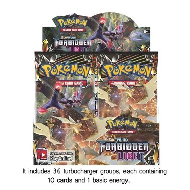 Pokemon Forbidden Light TCG Sun and Moon Sealed Booster Box - 36 packs