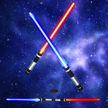 € 1 réduction pour 2 Pièces 66CM Star Wars Lightsaber 7 Couleurs Changeable Lumière Son Double Sabre seulement € 8.76