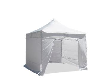Klappbar Zelt 3x3m Rohr Stahl 32mm mit 4 Seitenwände Weiß