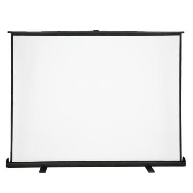 100-Zoll-HD-Projektionswand Handbuch Pull Up 100inch Diagonal Seitenverhältnis 4: 3 Projektionswand w / Einstellbare Höhe Halter