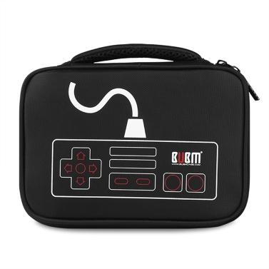 BUBM Portable Gadget Organizer Case Digital Storage Bag Electronics Organizer Home Office Travel Black
