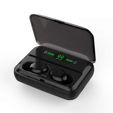 F9 Bluetooth 5.0 True Wireless Bluetooth Earphones TWS Earbuds Stereo Music Headphones IPX7 Waterproof Sport Headset Mic Charging Box