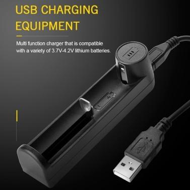 YONII C1 Universal-Ladegerät Schutz USB-Anschluss Ladegerät für 18650 Li-Ionen-Akku