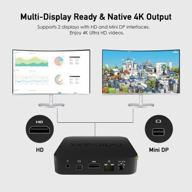 MINIX NEO Z83-4 Plus Mini PC Win10 Pro Intel X5-Z8350 64 Bit 4GB / 64GB Smart Media Player BT4.2 Dual Band WiFi & LAN UHD 4K Vedio Player