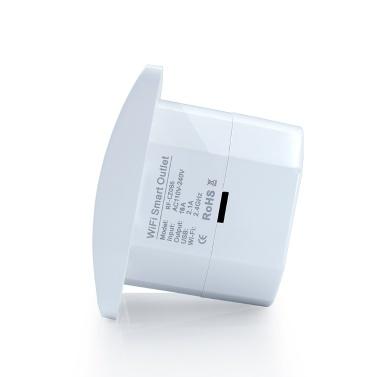 Intelligente WiFi-Steckdose EU-Stecker Zwei USB-Anschlüsse Steckdose Kompatibel mit Alexa Google Home Voice Control