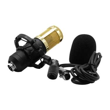 BM800 Kondensatormikrofon Tragbar Mikrofon-Kit mit hoher Empfindlichkeit und geringem Rauschen für Computer-Mobiltelefon Studio Live-Stream-Übertragung