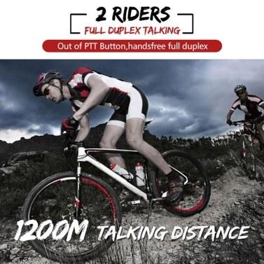 EJEAS Eagle 2 Rider Helmet Cycling Interphone BT Handsfree Intercom Helmet Headset 1200M Full Duplex Talking Intercom FM Radio