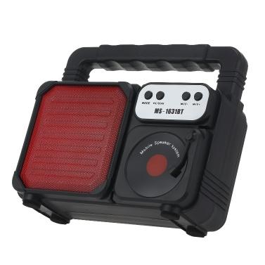 Tragbarer Außenlautsprecher MS-1631BT Buntes LED-Licht Super Bass Drahtlose Bluetooth-Lautsprecher FM-Radio TF-Karte U Disk Music Player