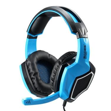 SADES SA-920 Gaming-Kopfhörer mit Mikrofon 3, 5 mm in Ear Stereo Gaming Kopfhörer Musik Kopfhörer für Desktop Notebook Laptop