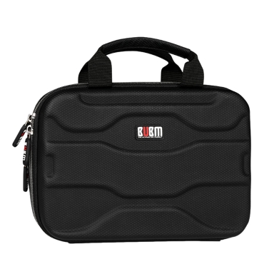 BUBM Portable Accessories Organizer Charger Cable Storage Bag Electronics Organizer Home Office Travel Black