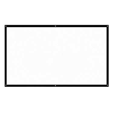 """H60 60 """"Beweglicher Projektor-Schirm HD 16: 9 Weiß 60 Zoll-diagonaler Projektions-Bildschirm faltbares Heimkino für Wand-Projektion zuhause draußen"""