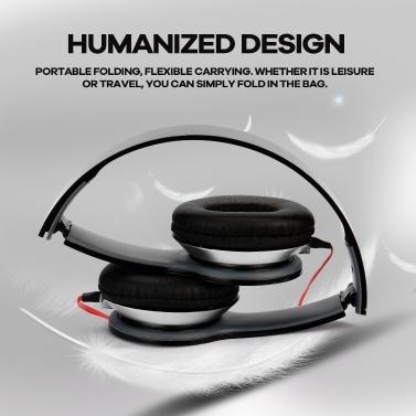 3,5-mm-Schwarz-Headset Professioneller Plug-and-Play-Kopfhörer mit Kopf für Computer und Mobiltelefon