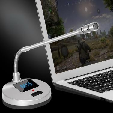 Mikrofone M15 Desktop Megaphon Sprachnotizbuch Karaoke-Spiel Sound Receiver Geeignet für Home Office Konferenzunterhaltung