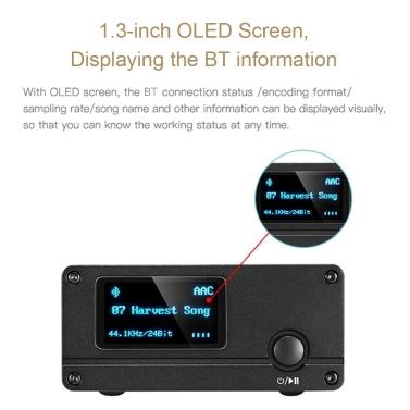 XDUOO XQ-50 PRO Bluetooth 5.0 Audio Receiver Converter DAC Type C HD CS8406 ES9018K2M Decoder Receiver Converter