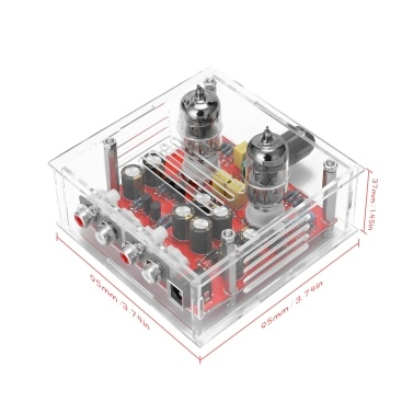 6J1 Tube Amplifier Preamp Board Dual Channel Class A Volume Control Tone Preamplifier Boards with Cryst Finish Board