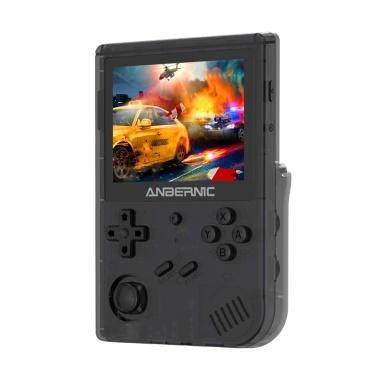 RG351V 3,5 IN 640 * 480 Handheld-Spielekonsole Retro-Spielekonsolen-Emulator WiFi-Pairing-Spiel Eingebaute 16 GB für PS1