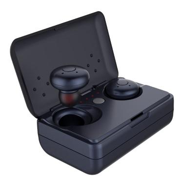 V08 Dual TWS True Wireless BT Headphones  Black