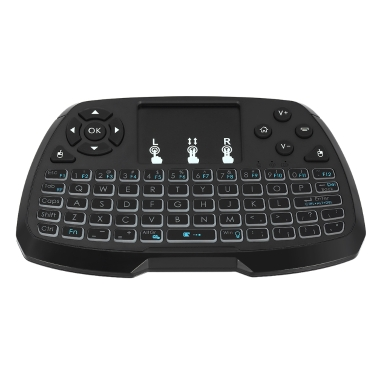 4 Colors Backlit 2.4GHz Wireless QWERTY Keyboard