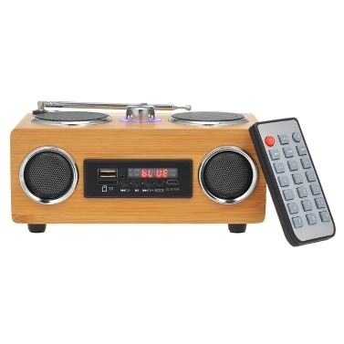 31% OFF SRB53 Portable Bamboo Bluetooth Speaker,limited offer $31.99