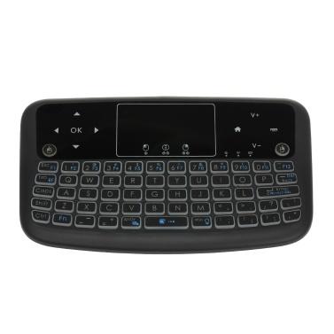 A36 mini teclado sem fio 2.4g cor backlit air mouse touchpad teclado para android caixa de tv smart tv pc ps3