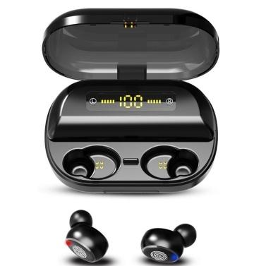 Fones de ouvido impermeáveis IPX7 TWS Bluetooth 5.0 Ture fone de ouvido sem fio