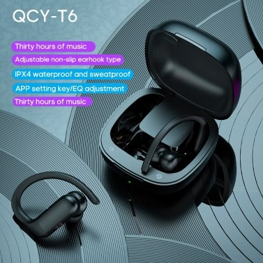QCY T6 BT Headset True Wireless-Stereo-In-Ear-BT5.0-Kopfhörer Sport-Stereo-Kopfhörer mit 600-mAh-Ladebox
