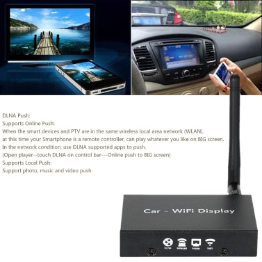 PTV858 Car WiFi Display Dongle Receiver Linux System Airplay Mirroring Miracast DLNA Airsharing Full HD 1080P HD for HDTV Smart Phones Notebook Tablet PC