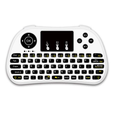 P9 2.4G RF Wireless Keyboard Flash Blacklit Keyboard mit Touchpad Maus Combo Multimedia Keys Handheld Fernbedienung für Android TV BOX PC Smart TV HTPC Tablet Smartphone