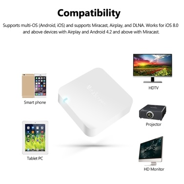 MiraScreen X7 Wireless WiFi Display Receiver 1080P WiFi Mirror Box Miracast Airplay DLNA Mirroring HD AV Out Car Home Use
