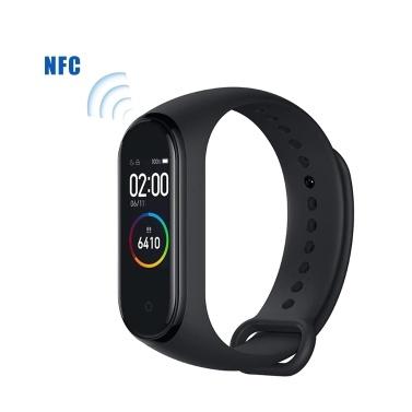 Xiaomi Mi Band 4 Intelligente Armbänder NFC Version Schwarz AMOLED Farbdisplay Armband BT 5.0 135 mAh Batterie Fitness Tracker SmartWatch