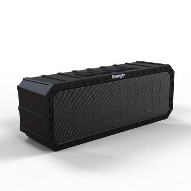 Smalody 7050 Tragbare Bluetooth-Lautsprecher 6 W Stereo-Soundbox IPX6 Wasserdichter Außenlautsprecher Freisprechfunktion mit Mikrofon TF-Kartensteckplatz FM-Radio für Reisen im Freien