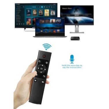 VIBOTON S122 2.4G Wireless Remote Control with USB Receiver Voice Input Function for Android TV Box / Game Console / Computer / Set-top Box
