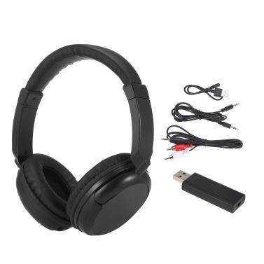 Drahtlose FM-Kopfhörer Over-Ear-Musik-Ohrhörer mit 3,5-mm-Sender und kabelgebundenem Cinch-Headset unterstützen FM-Radio für TV-PC-Telefone MP3-Player