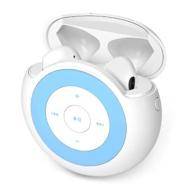 IDISKK True Wireless Earbuds 32-GB-MP3-Player 3-in-1-Bluetooth 5.0-TWS-Kopfhörer mit Ladebox Rauschunterdrückung In-Ear-Musik-Headset Kompatibel mit Telefonen und Tablets