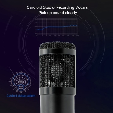 K8 USB Condenser Microphone Recording Live Streaming Microphone Studio Broadcast PC Microphone for Voice Chat K Song Podcast Recording
