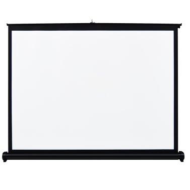 50-Zoll-HD-Projektionswand Handbuch Pull Up Folding Projizieren Bildseitenverhältnis 4: 3 mobile Projektionswand für DLP-Projektor mit Handprojektor