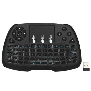 Tastiera wireless versione inglese retroilluminata a 2,4 GHz